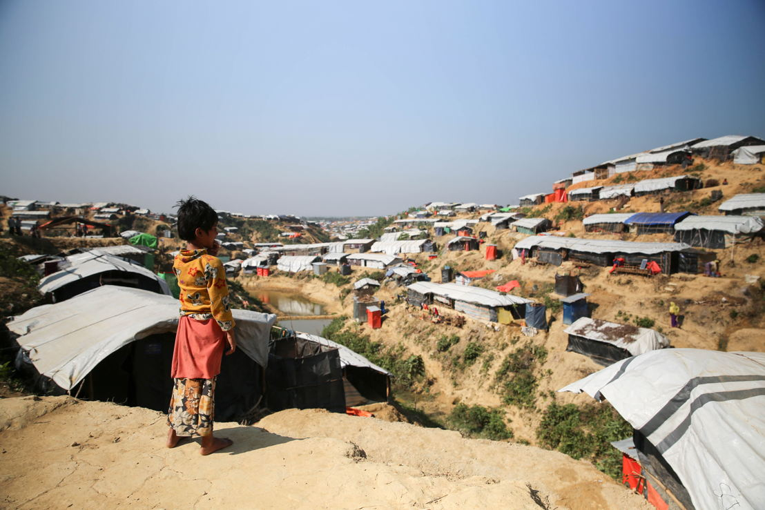 Conditions of life for Rohingya children at the refugee camps in Bangladesh are grim. Photographer: Mohammad Ghannam