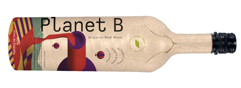 Primeur in België: een wijnfles gemaakt van papier !