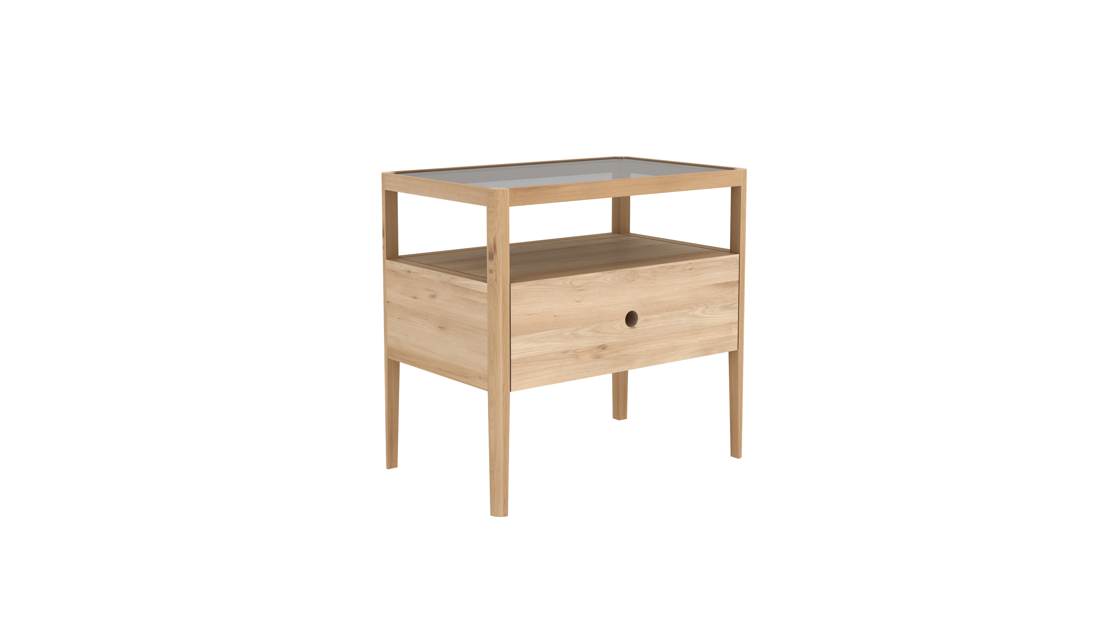 Oak Spindle Nighstand - 1 drawer