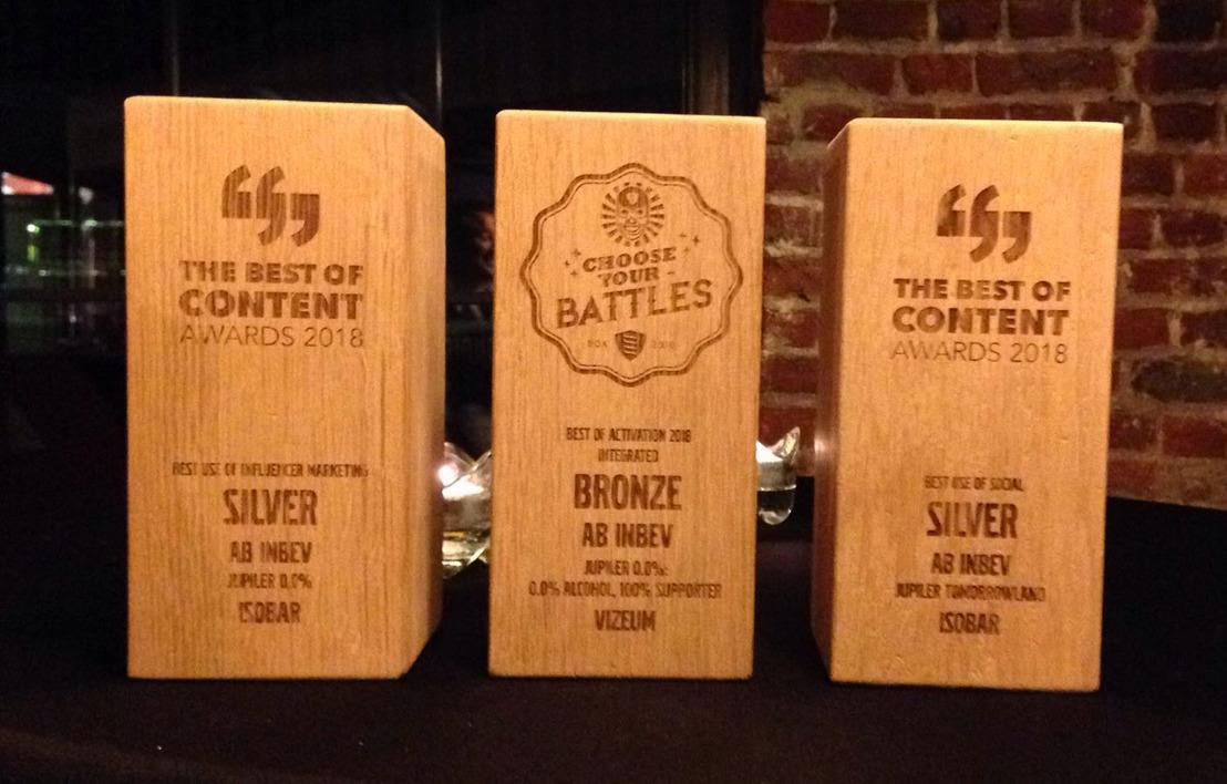Jupiler wint 3 marketing awards en scoort met campagne rond verantwoord drinken
