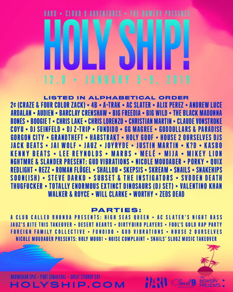 Holy Ship January 2019