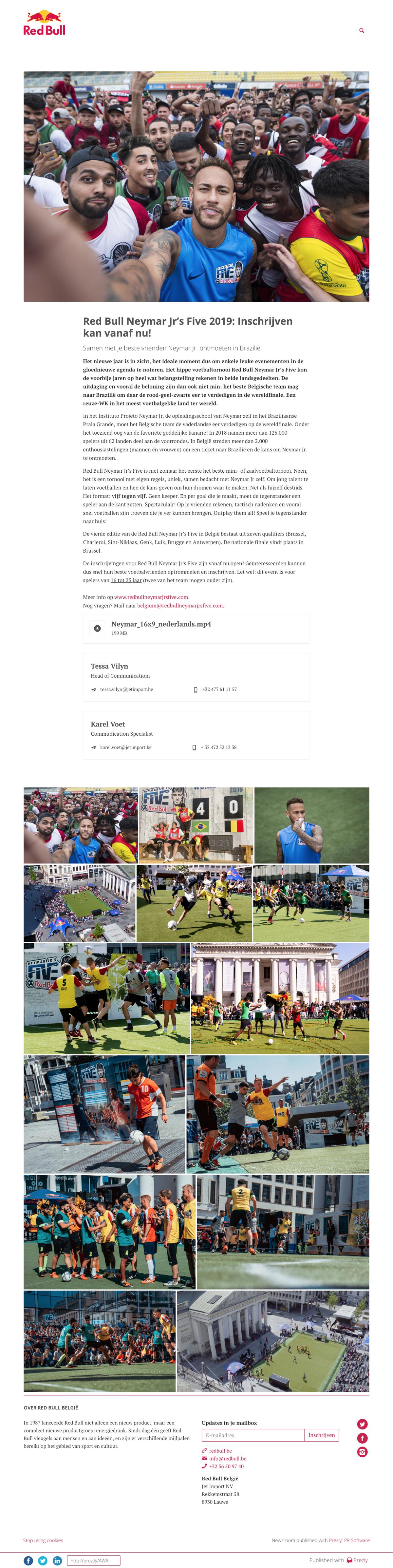 Red Bull Neymar Jr's Five 2019: Inschrijven kan vanaf nu!