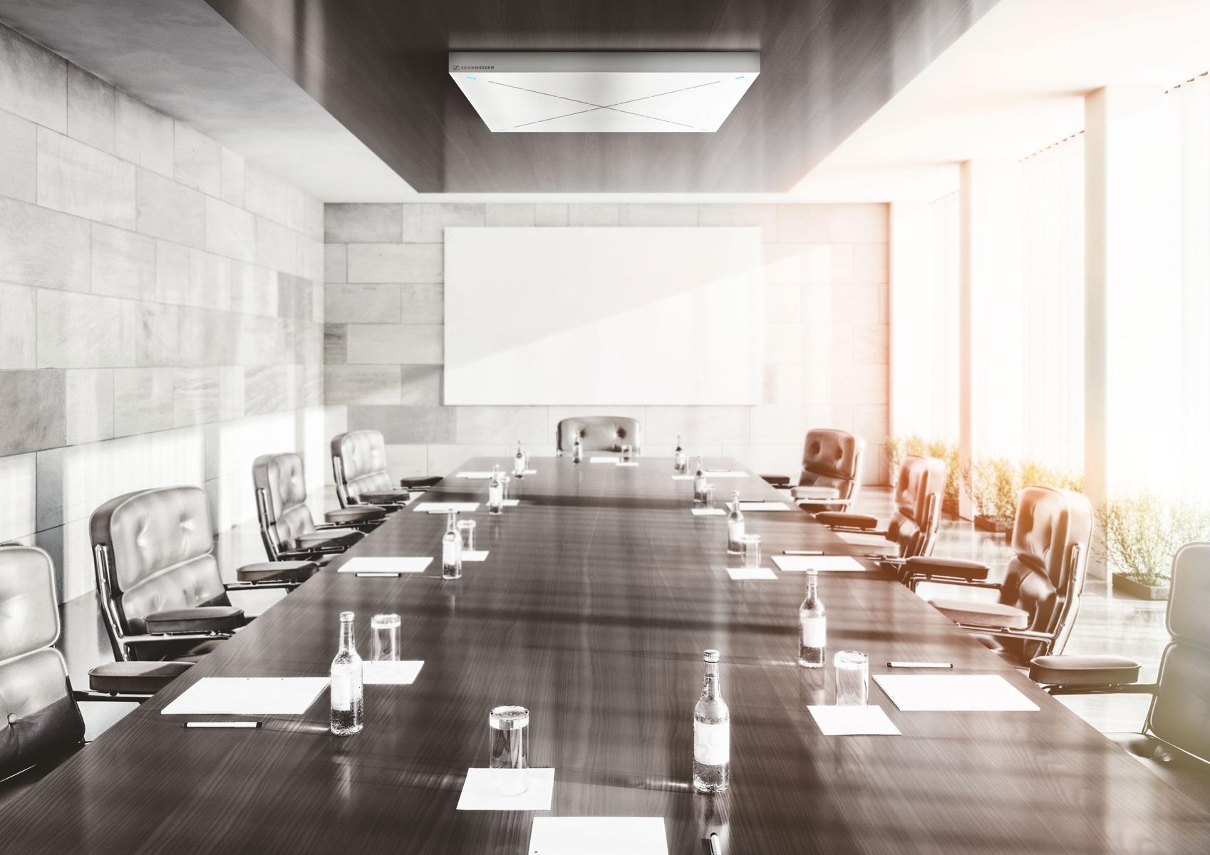 Sennheiser introducerer TruVoicelift til TeamConnect Ceiling 2