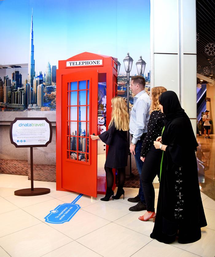 """دناتا للسفريات توفر تجربة """"الشتاء في إنجلترا"""" لزوار متجرها في مول دبي"""