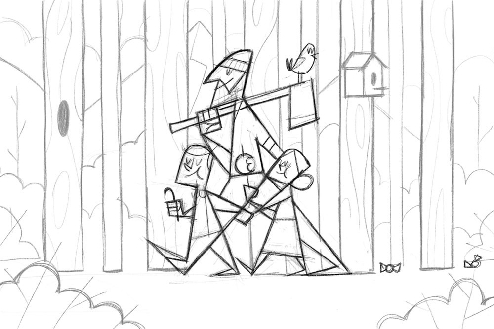 Hansel and Gretel Original Sketch