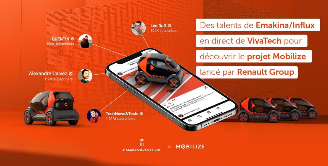 Des talents de Emakina/Influx en direct de VivaTech pour découvrir le projet Mobilize lancé par Renault Group