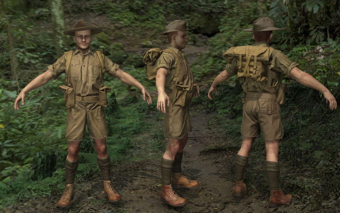 Kokoda VR soldier uniform development