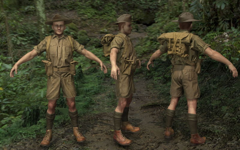 Kokoda VR soldier uniform development