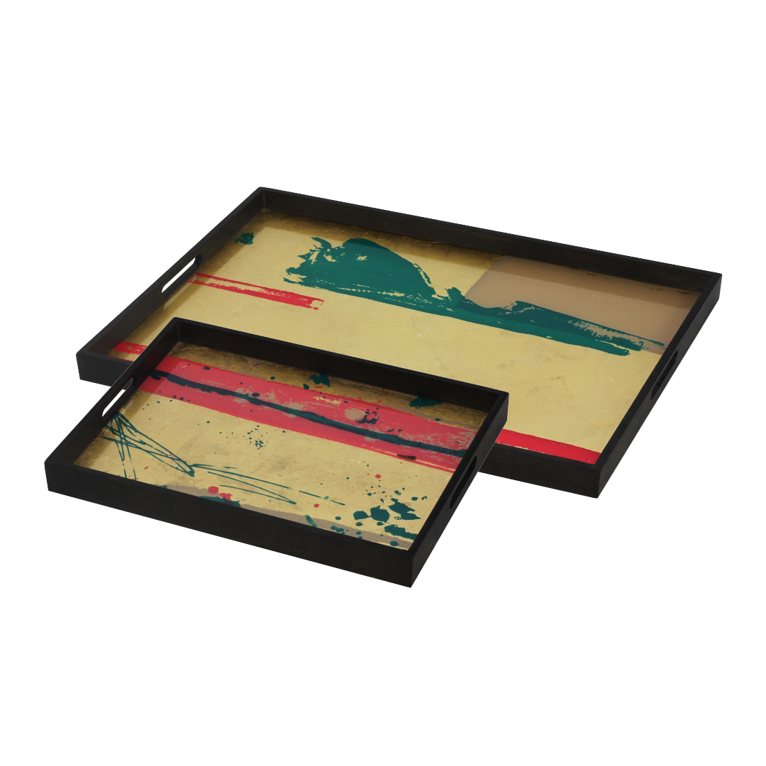 Notre Monde Abstract Study & Abstract Vista trays - Perfect Combination