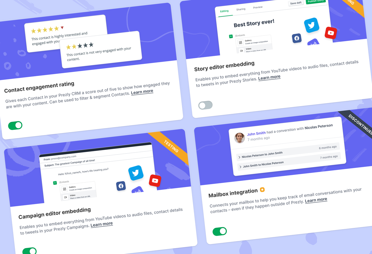 News: New Feature Labs page