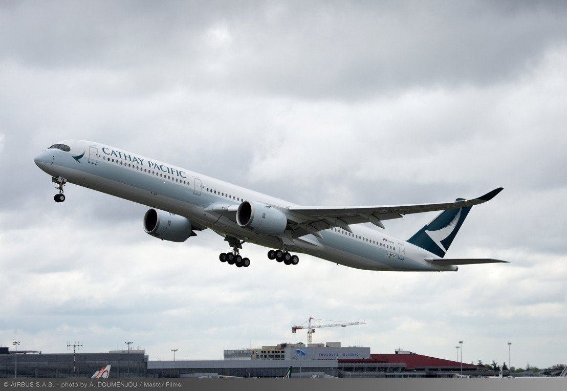 Cathay Pacific A350-1000 completes first test flight in Toulouse