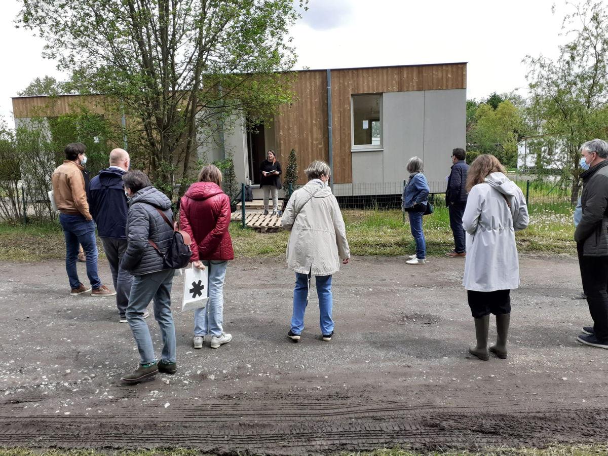 Op 20 mei werden de zes kleinschalige woningen ingehuldigd in Huldenberg