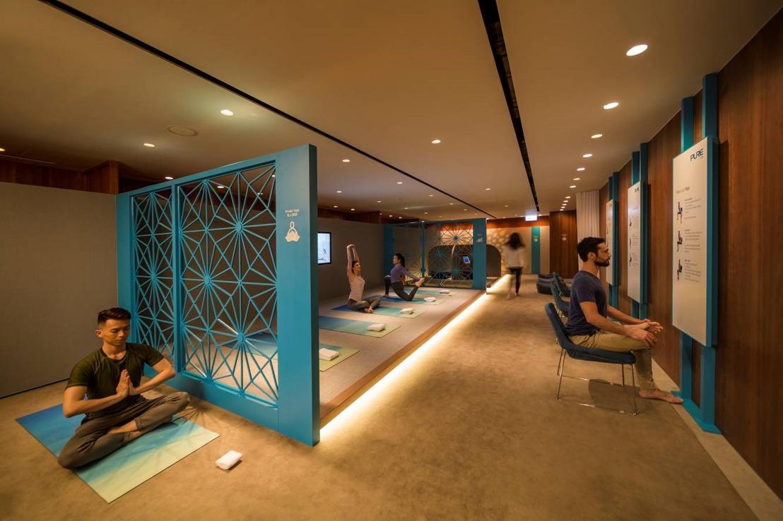 キャセイパシフィック航空 香港国際空港にあるビジネスクラスラウンジにヨガスペースをオープン