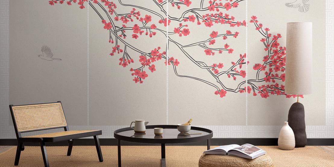 Murals inspired by Japanese design celebrate the start of Sakura season
