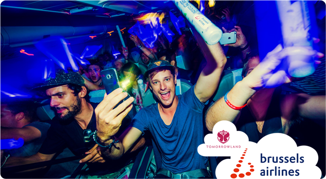 Brussels Airlines klaar voor twee weekends Tomorrowland madness