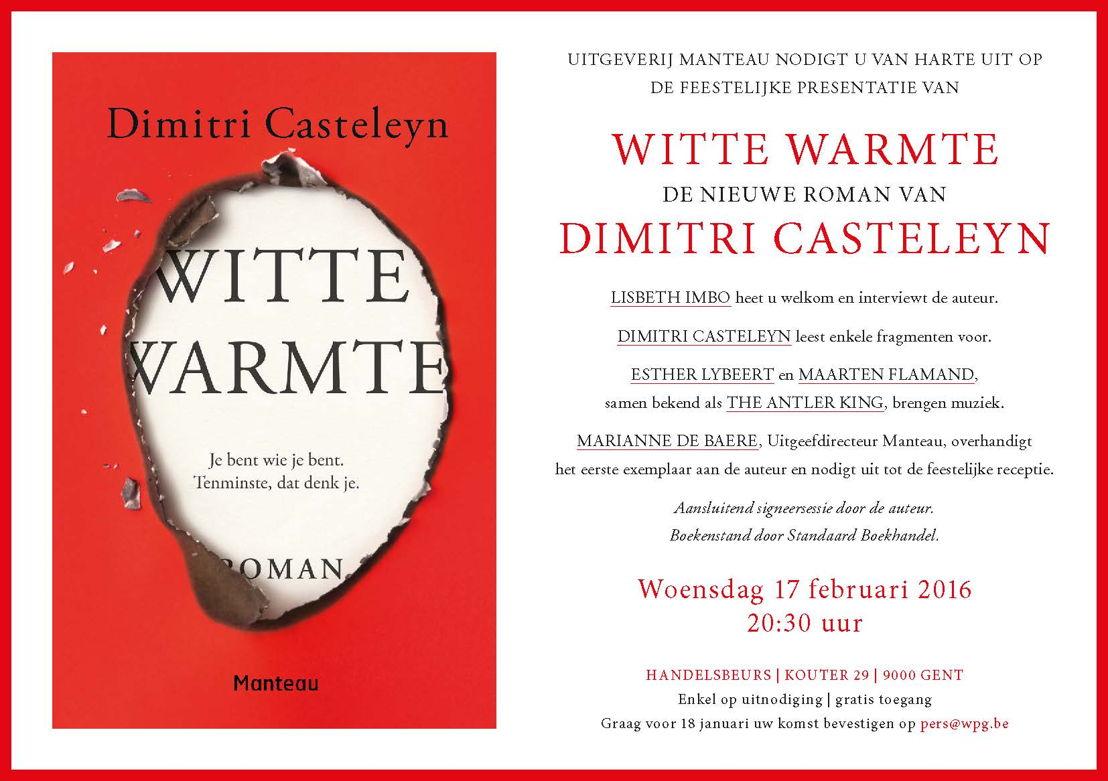 Uitnodiging boekvoorstelling 'Witte warmte' op 17 februari