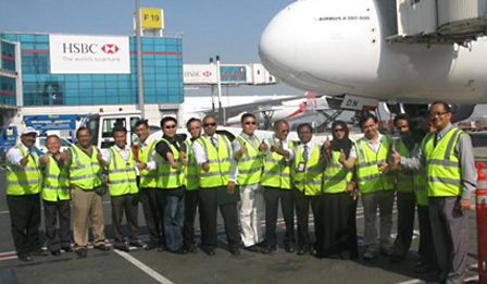 Ground handling training for the new A380