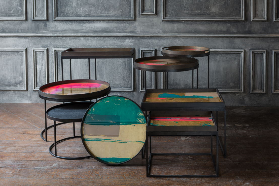 Notre Monde Bright Abstract tray collection & tray tables_2