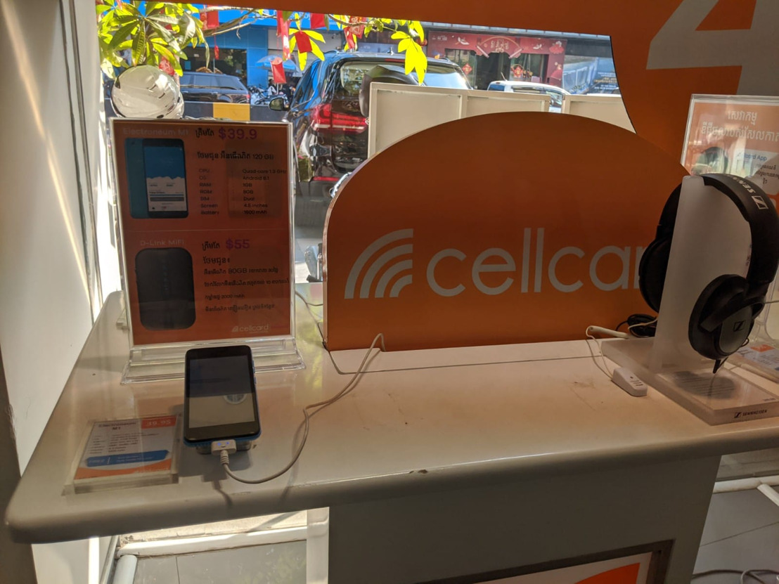 Massive success! Sale of all Electroneum's M1 smartphones surprises Cambodia's Cellcard as it flies off shelves within two hours