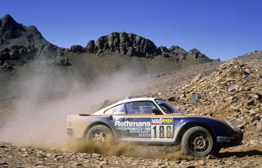 1986: Porsche 959 París-Dakar con tracción de las ruedas delanteras conectable a través del embrague multidisco y al bloqueo transversal del eje trasero.
