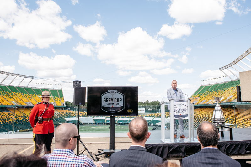106th Grey Cup presented by Shaw is coming to Edmonton. Photo Credit: Cooper & O'Hara Photography/CFL