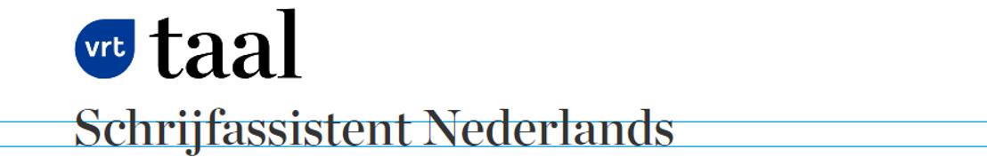 VRT lanceert online schrijfhulp De Schrijfassistent