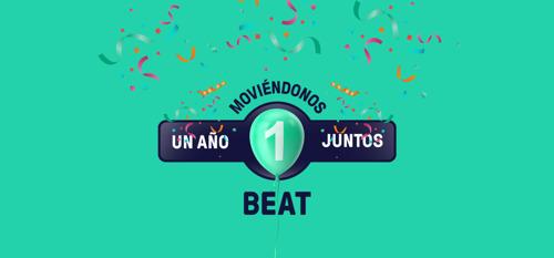 Primer año de Beat en Argentina: Un año moviéndonos juntos, recorriendo más de 57 millones de kilómetros