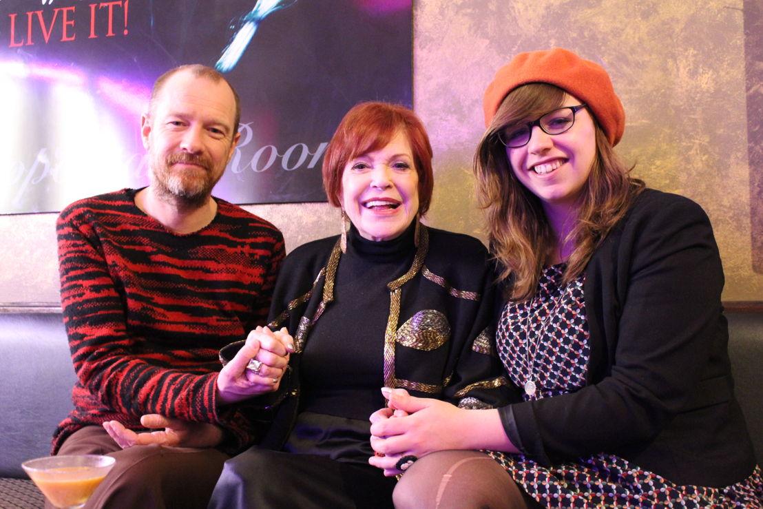 Kurt Overbergh, zangeres Annie Ross en Annelies Moons in New York (c) VRT - Leen Van Severen