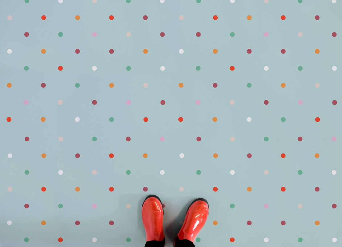 Polka |   <br/>Polka Dot Vinyl Flooring