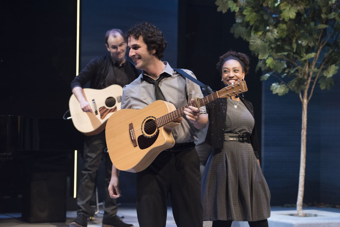 Anton Lipovetsky, Jonathan Gould, and Evangelia Kambites in I Think I'm Fallin' - The Songs of Joni Mitchell created by Michael Shamata and Tobin Stokes / Photos by David Cooper