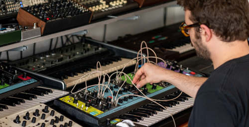 Watch: Ghostly International Artist Max Ravitz (Patricia) Explores Moog Matriarch in Brooklyn Home Studio