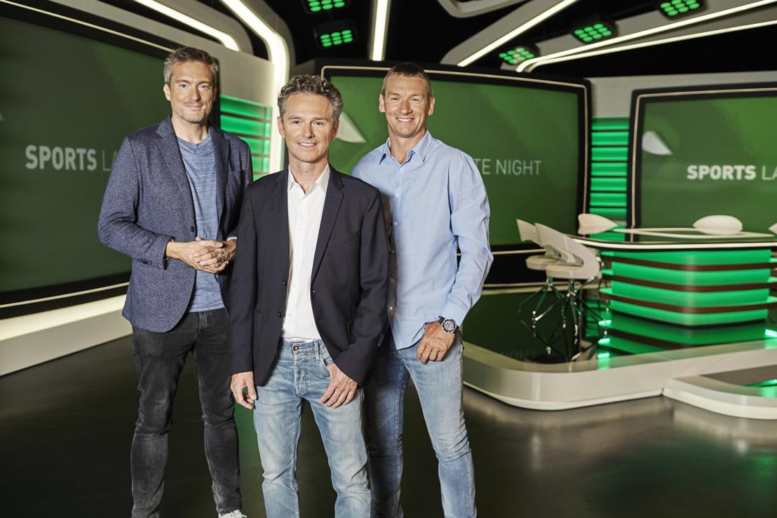 Voetbal op VIER met Sports Late Night en Bart Raes, Gilles De Coster & Geert De Vlieger