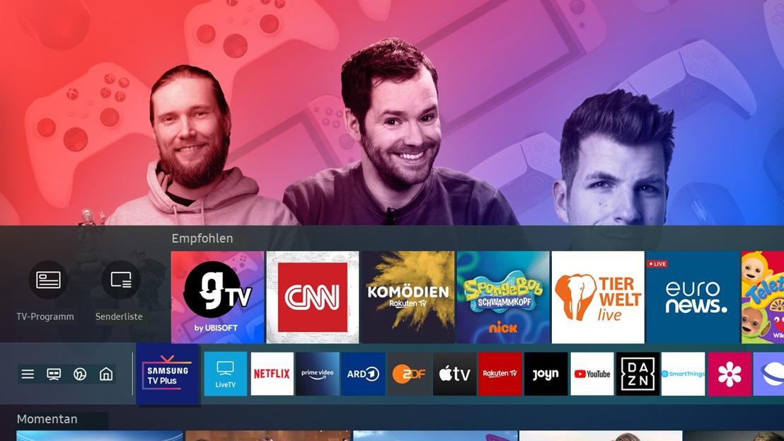 gTV BY UBISOFT STARTET MIT EINEM NEUEN FORMAT INS ZWEITE JAHR UND FEIERT EINE EXKLUSIVE PARTNERSCHAFT MIT SAMSUNG TV PLUS
