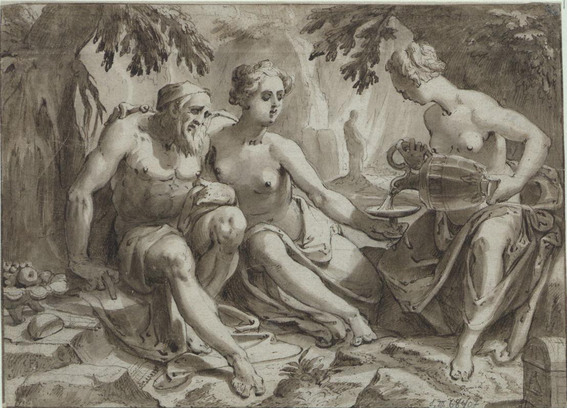 Lot en zijn dochters (Karel van Mander)