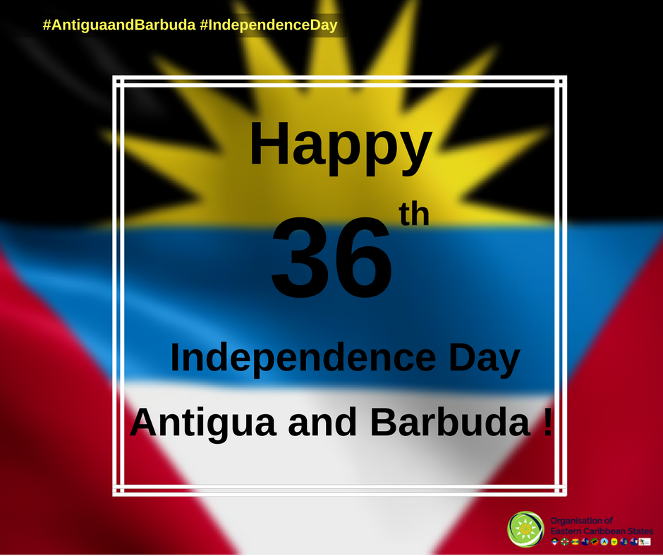 Infographic on the 36th Independence day of Antigua and Barbuda
