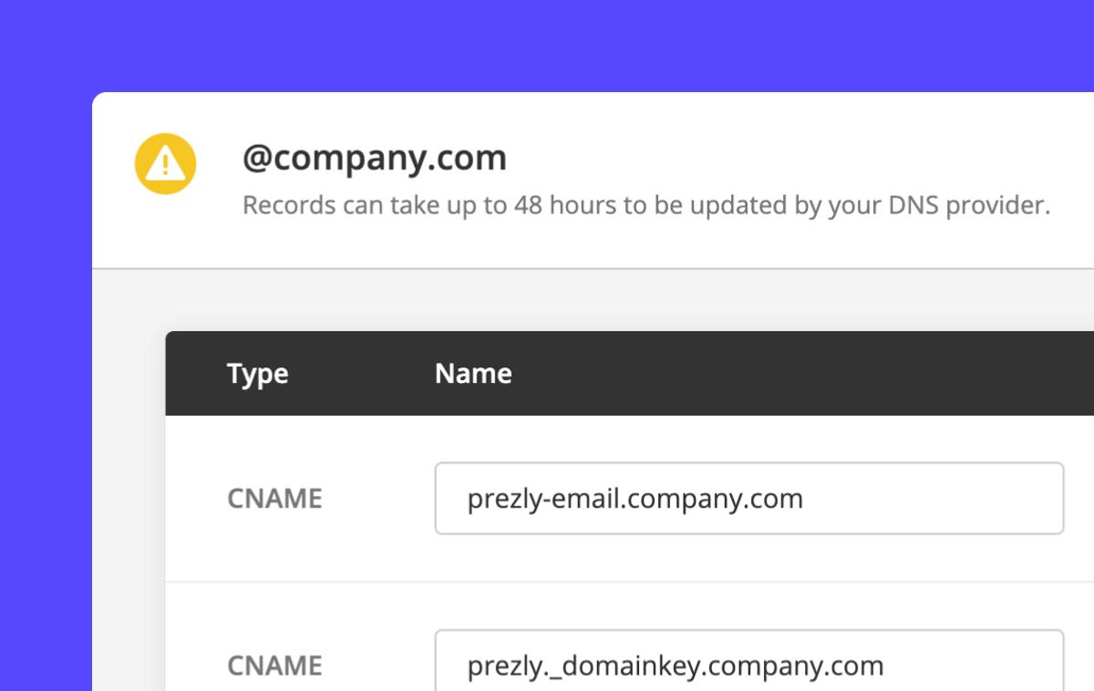 Verify your sender address domain