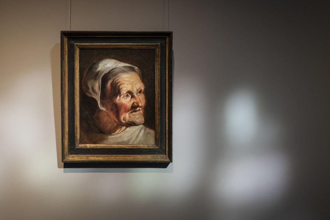 Jacobs Jordaens, studiekop van een oude vrouw, (c) Ans Brys