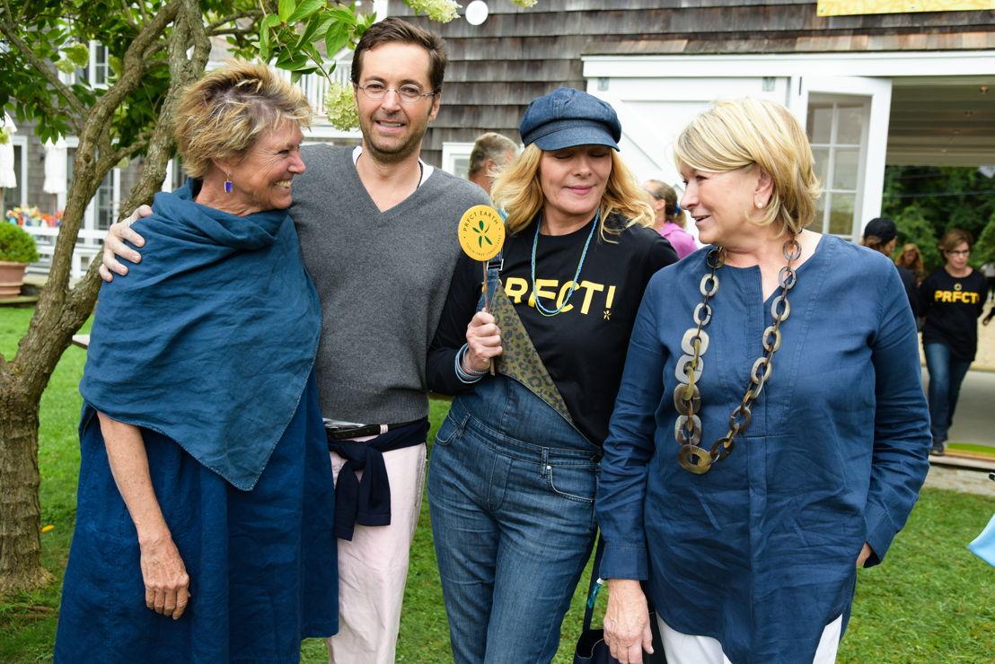 Edwina von Gal, Jeff Ricker, Kim Cattrall y Martha Stewart
