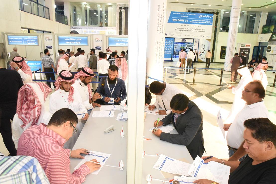 Registration at HVACR EXPO Saudi 2017