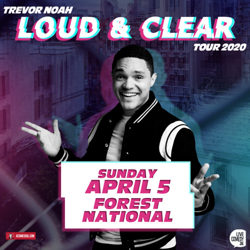 Preview: Trevor Noah announces show in Belgium on April 5th 2020