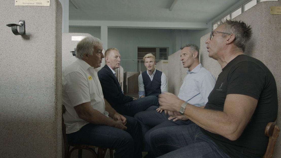 Aflevering 4: Walter Planckaert, Edwig Van Hooydonck, Ruben Van Gucht, Jean-Marie Wampers,  Dirk De Wolf - (c) Deklat Binnen