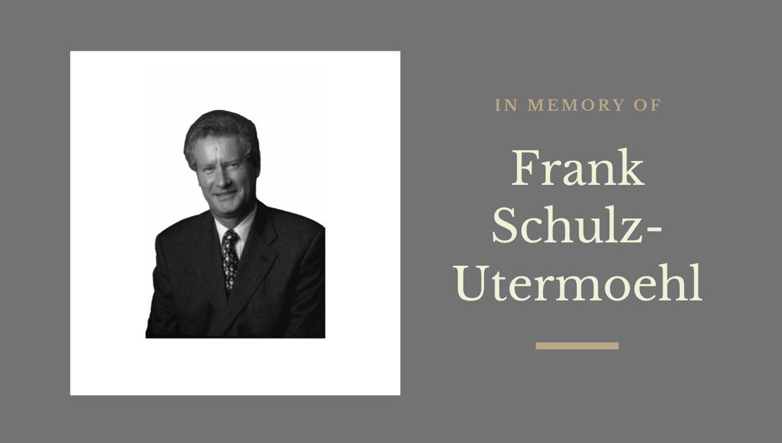 In Memoriam: Frank Schulz-Utermoehl