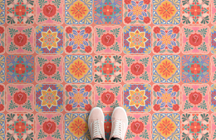 Preview: Atrafloor releases Blooming Tiles collection, inspired by global floral motifs
