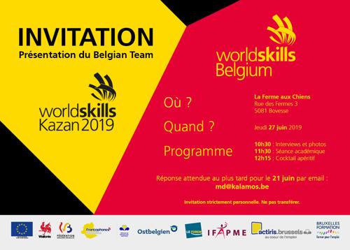 Présentation officielle du Belgian Team des Métiers, les Red Bears