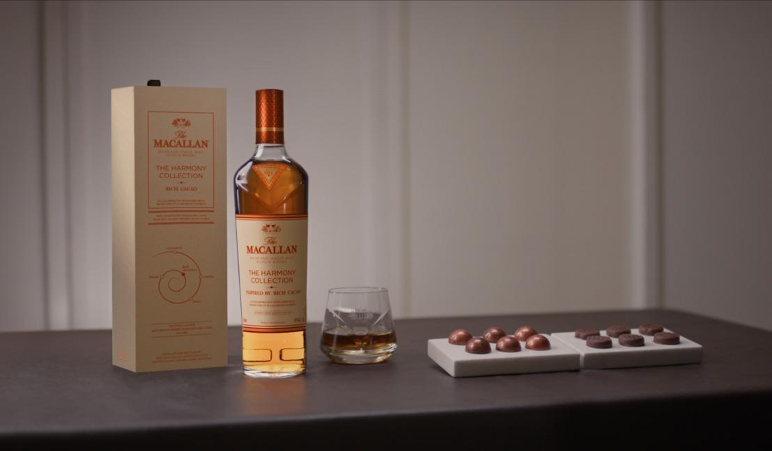 Presentamos la colección The Macallan Harmony Rich Cacao: una colaboración única que da vida a los mundos del chocolate y el whisky