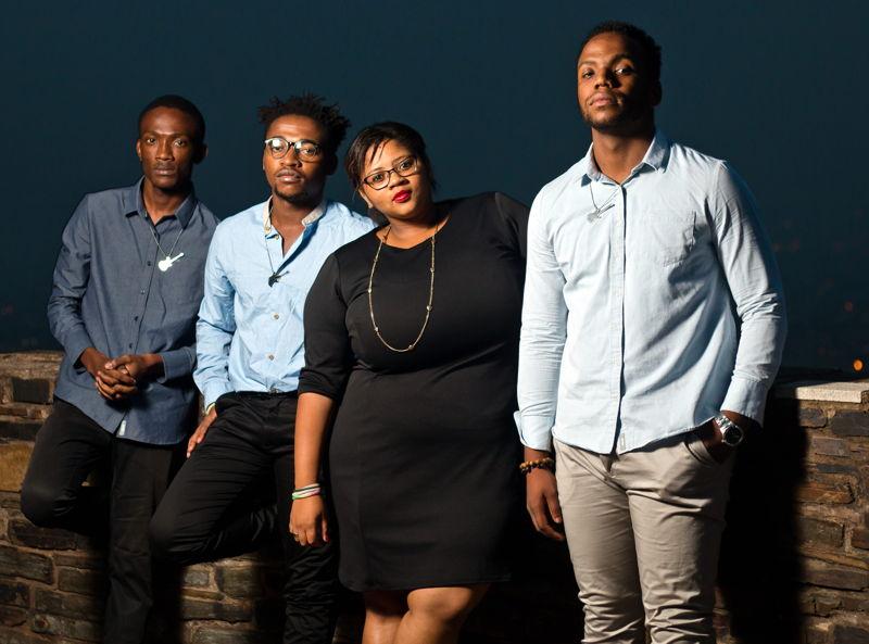 Acoustiq Assassins with Tonick, Gugu Mdladla, Noma Noxolo Khumalo and Siphiwe Junior Mazibuko - credit Ooh Snap Photography