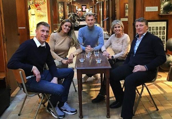 Axel Merckx, Inge de Bruijn, Ruben Van Gucht, Anky van Grunsven, Robert Vandewalle in het Sportimonium in Hofstade