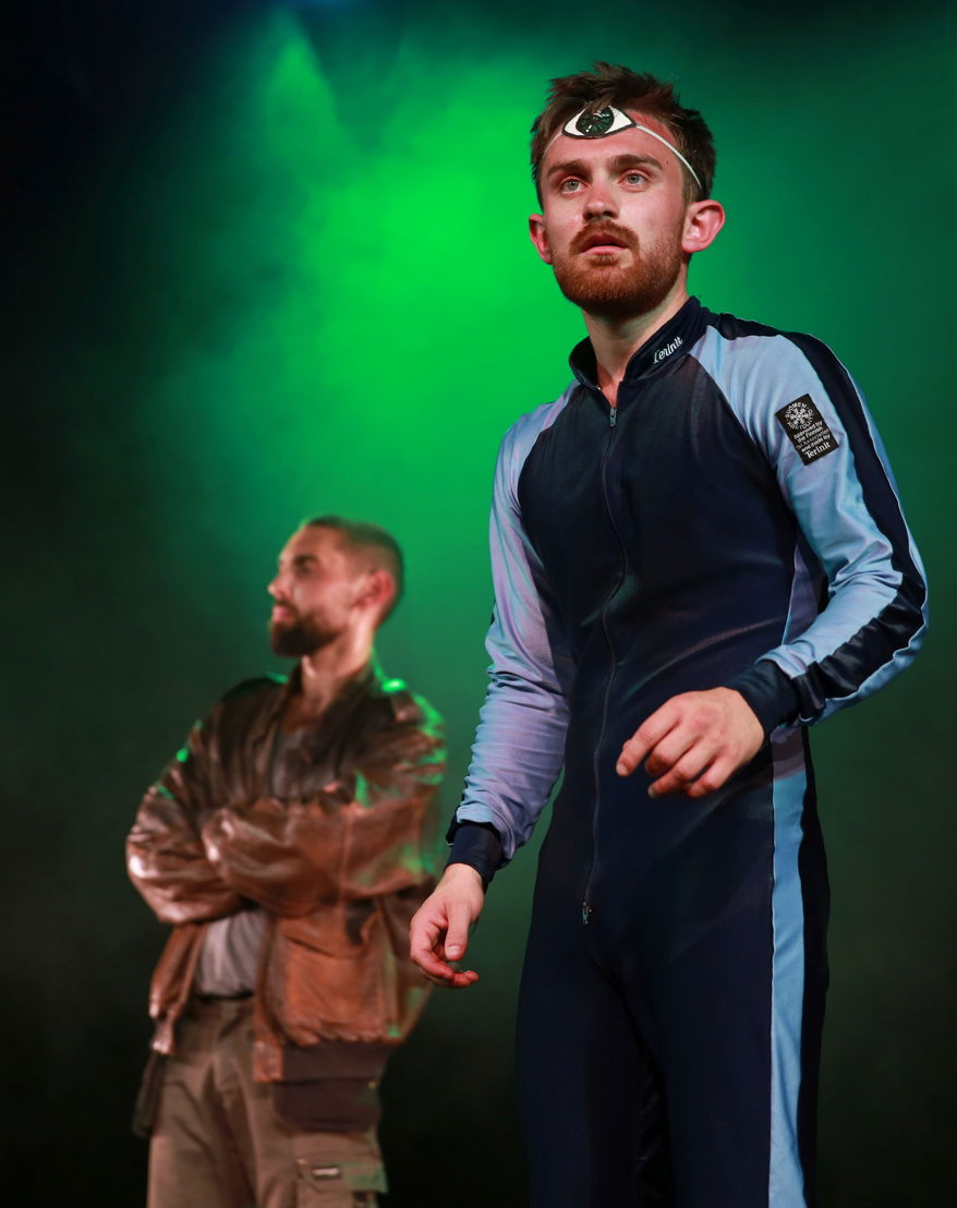 Nathan Parkinson and Zachary Hunt in Police Cops in Space. Image by Nardus Engelbrecht
