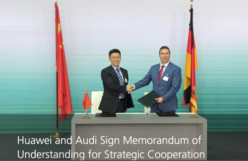 Huawei and Audi Sign Memorandum of Understanding for Strategic Cooperation