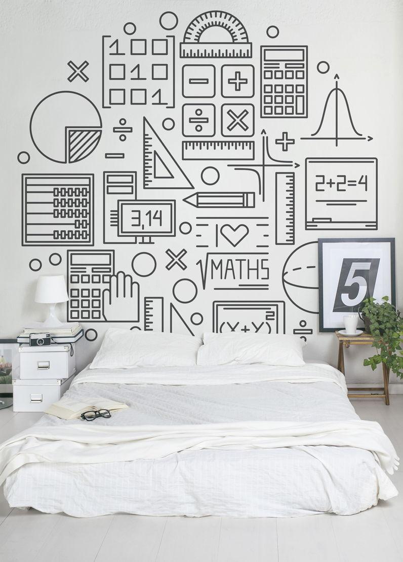 Maths - Circle Wallpaper Mural